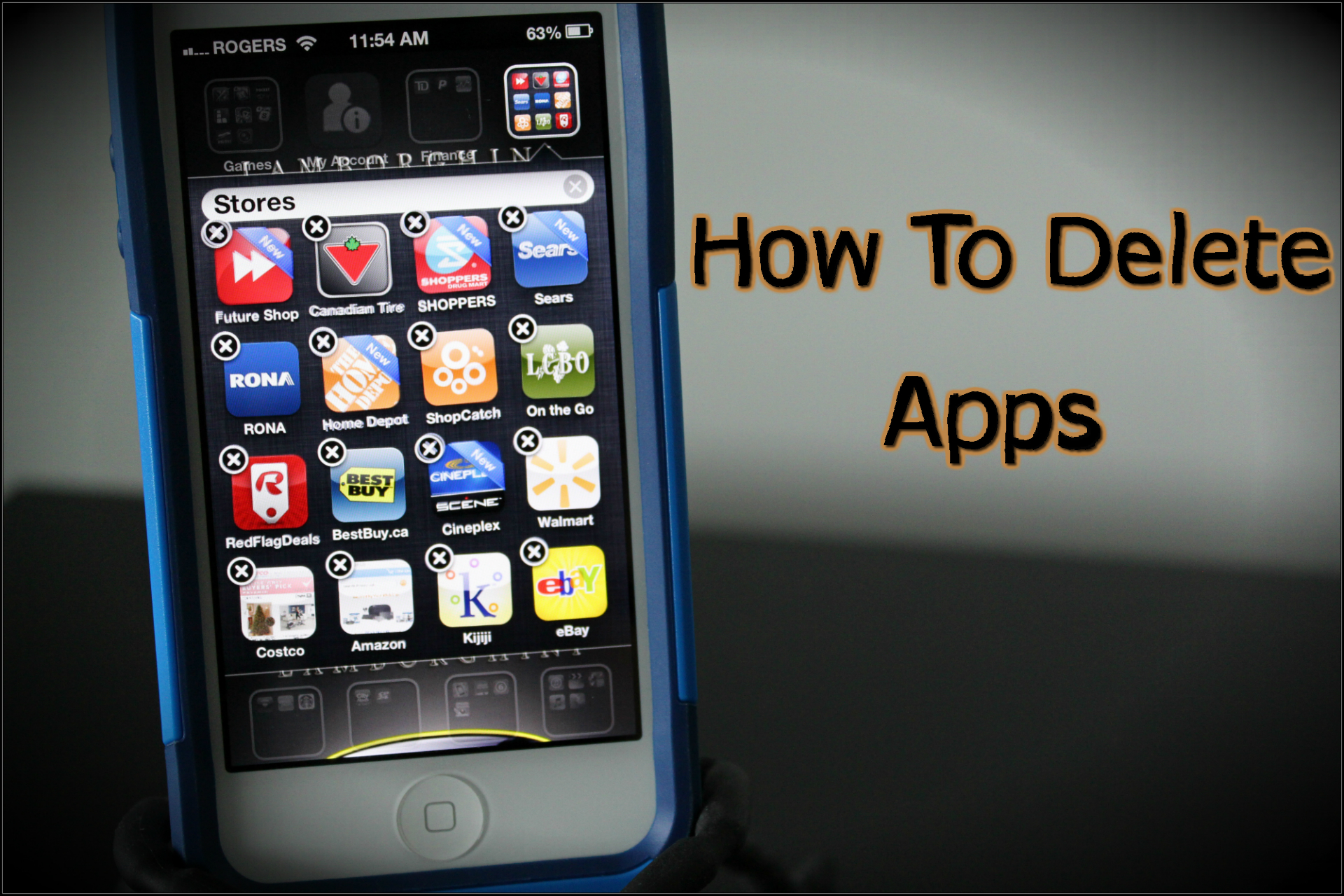 how to delete apps on the iphone 5 4s and 4 how to use your iphone. Black Bedroom Furniture Sets. Home Design Ideas