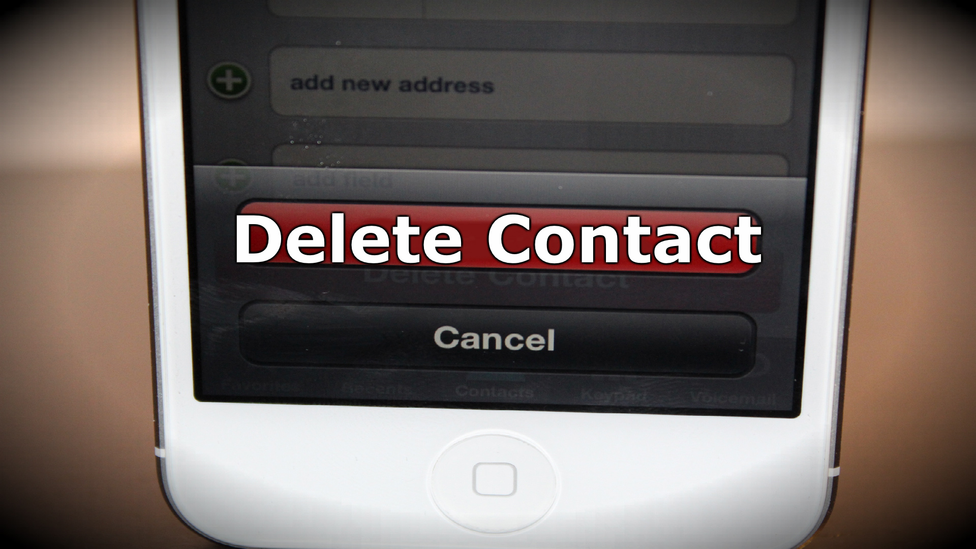 How To Delete iPhone Contacts – iPhone 5, 4s and 4