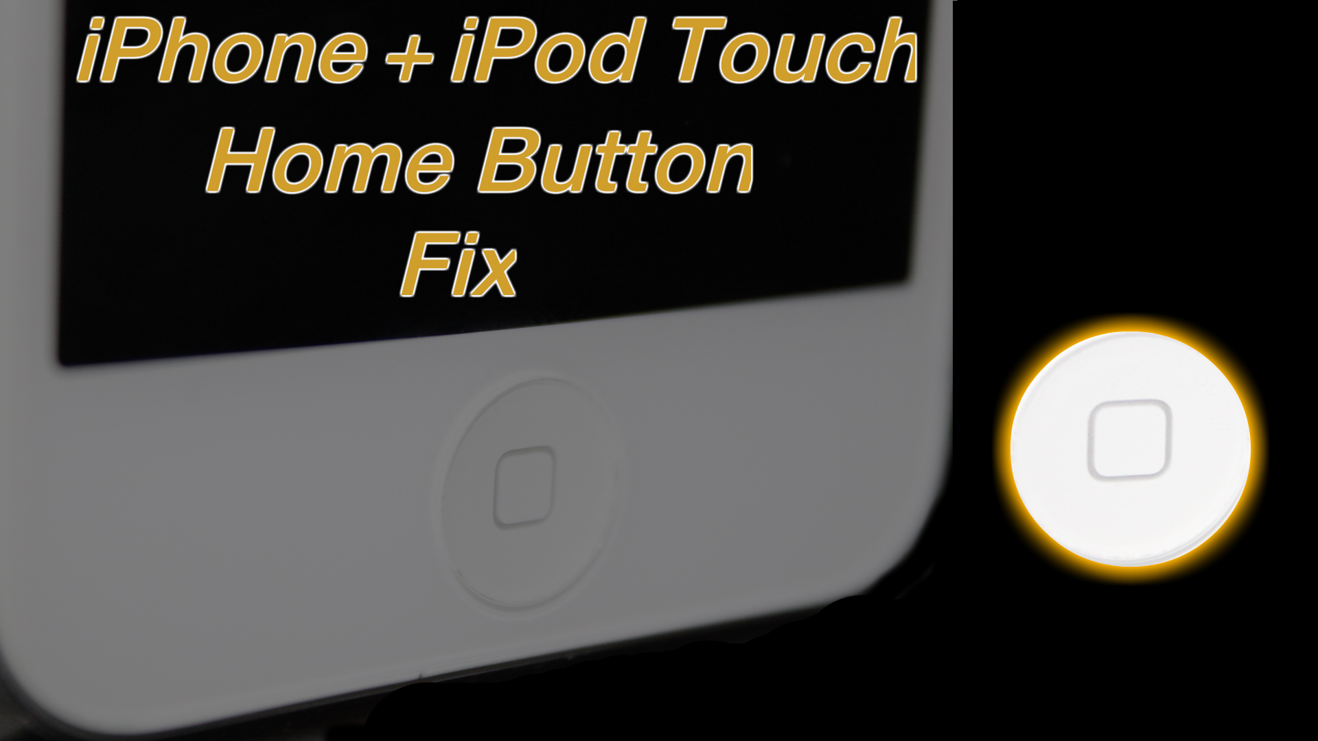 How To Fix iPhone Home Button Without Tools – iPhone – iPod Touch – iPad