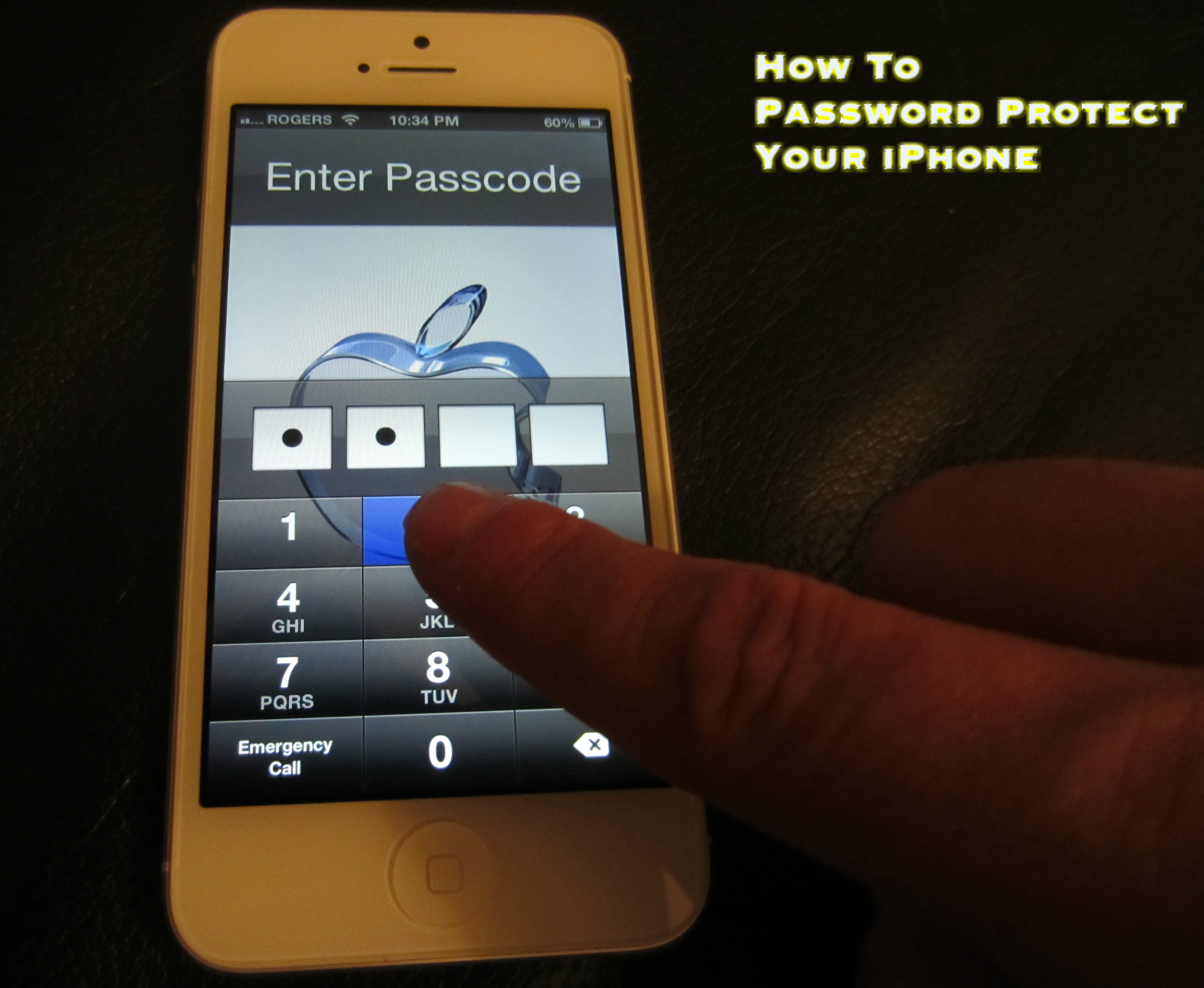 How To Password Protect Your iPhone 5, 4s and 4 - Simple iPhone Pascode  Lock -