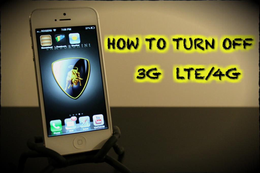 How To Turn Off 3G, LTE, 4G Data iPhone 5 -