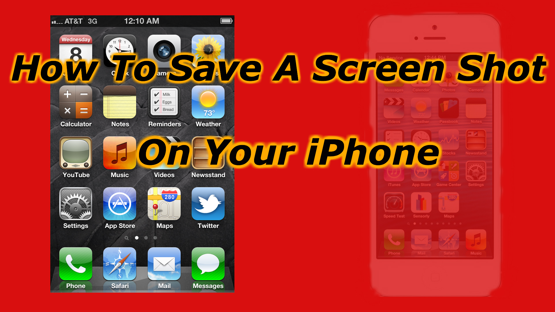 how to screenshot iphone 5 how to take a screen on the iphone 5 4s and 4 how 17254